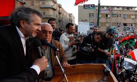 Bernard-Henri Lévy in Libya