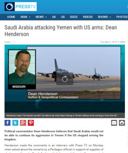 Press TV Saudi Arabia attacking Yemen Dean Henderson